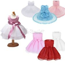 Flower Girl Princess Dress Kid Baby Party Wedding Pageant Formal Christening