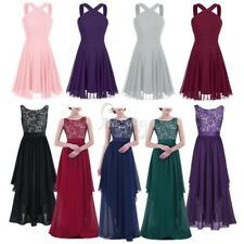 Ladies Women's Elegant Bridesmaid Evening Dress Formal Cocktail Party Prom Gown