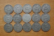 English Shillings 1937 to 1951 - all Selected Circulated -  choose your date