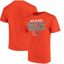 Miami Hurricanes Champion Mens Chp Core Mascot  T-Shirt - Orange