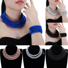 Fashion Jewelry Chain Rope Magnetic Choker Statement Bib Necklace Bracelet Sets
