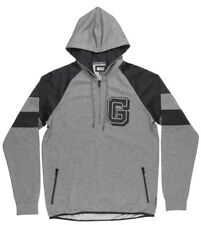 Grizzly Griptape Full Court Half Zip Sweater Hoodie Pullover Sport Mens Charcoal