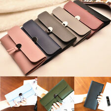 Clutch Wallet Women PU Leather Long Card Holder Case Purse Bag Handbag Fashion U