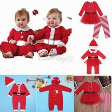 Newborn Baby Boy Girls Christmas Clothes Romper Jumpsuit Bodysuit Outfit Costume