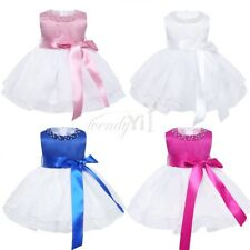 Infant Baby Girl Kids Birthday Wedding Pageant Party Princess Tutu Organza Dress