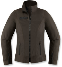 Icon 1000 Womens Brown Textile Fairlady Motorcycle Riding Street Racing Jacket