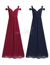 Women Bridesmaid Evening Gowns Formal Party Prom Dress Chiffon Long Maxi Dresses