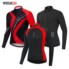 Men's Breathable Cycling Jersey Bike Quick dry Long Sleeve Coat Bicycle Tops