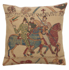 Bayeux - Mont St. Michel Belgian Woven Norman Tapestry Pillow Cushion Cover NEW