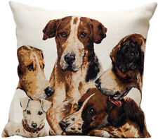 La Meute (The Pack) French Tapestry Cushion Pillow Cover - 18 x 18 - NEW