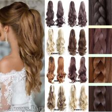 "UK 100% Real clip in New As human Hair Ponytail 18-24"" Hair Extensions Hair LS2"