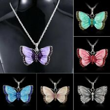 Butterfly Animal Charm Pendant Necklace Long Chain Family Women Jewelry Gift New