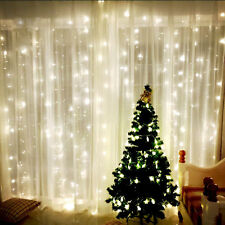 100/200/500 LED Fairy Outdoor Garden Hanging String Lights Solar Power UK Plug