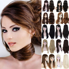 Women'S Long Curly Straight Wavy Hair Synthetic Full Wig Natural Cosplay Party 3