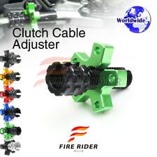FRW 6Color CNC Clutch Cable Adjuster For Kawasaki Ninja ZX-6R ZX600 90-93 91 92