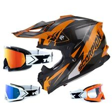 SCORPION VX-15 EVO MX Helmet Krush Orange 2017 incl. Two-X Race Motocross