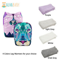 Alva Cloth Diaper With One Insert Four Colors Leg Warmers for U Pick