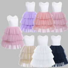 Flower Girl Dress Kids Wedding Party Dress Lace Ruffled Pageant Formal Dresses