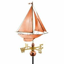 Racing Sloop Weathervane Pure Copper by Good Directions