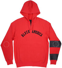 Black Scale Blvck America Zip-Up Jacket Hoodie Red Mens