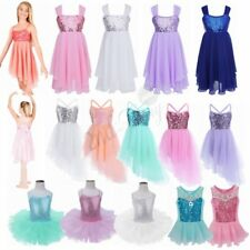 Girl Kid Gymnastic Ballet Leotard Skirt Tutu Dress Dance Ballerina Swan Camisole