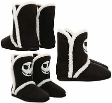 DISNEY Nightmare Before Christmas JACK Slippers Boots Sherpa Plush House Shoes