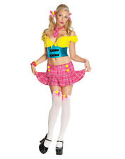 Circus Clown Colorful School Girl Candy Sweet Womens Halloween Costume Set XS-L
