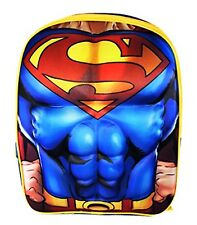 """SUPERMAN JUSTICE LEAGUE 16"""" Full-Size Molded Chest Backpack w/Optional Lunch Box"""