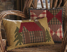 Rustic Lodge Style Applique Cabin Pillow Covers by Park Designs, Pick of 2 Sizes