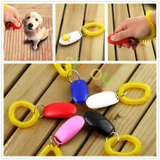 Dog&Cat Pet Click Clicker Training Obedience Agility Trainer Aid Wrist Strap IB&