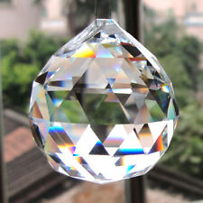 Clear Feng Shui Hanging Crystal Ball 20mm Sphere Prism Rainbow Sun Catcher Clear