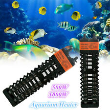 Aquarium Dual Glass Tube Heater Submersible Adjustable Thermostat 500/1000W