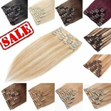 Highlight Blonde Clip in Hair Extensions Full Head Real Human Hair 100% Remy MY1