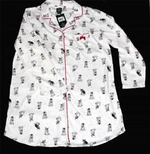 Laura Ashley BOSTON TERRIERS w/ Red Bows Top Hats L/S Nightshirt Wms NWT $36