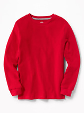 NWT OLD NAVY BOYS WAFFLE THERMAL SHIRT TOP red  you pick size