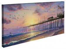 Thomas Kinkade Footprints in the Sand Open Edition Wrapped Canvas 16x31