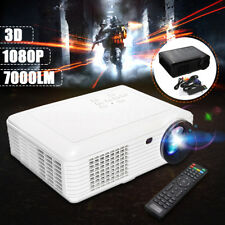 7000 Lumens LED Projector Home Theater USB TV 3D HD 1080P Business VGA/HDMI
