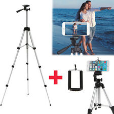 Professional Camera Tripod Stand Mount + Phone Holder For Cell Phone iPhone LG