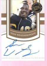 SEAN WEATHERSPOON 2010 PRESS PASS ROOKIE ON CARD AUTOGRAPH AUTO RC SP $15