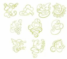 Gilded Doves Redwork Machine Embroidery- 40 Designs- By Anemone Embroidery