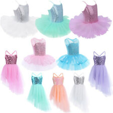 Girls Kids Gymnastics Leotard Ballet Dress Tutu Skirt Dancewear Costume SZ 2-10