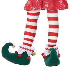 Girl Boy Child Elf Shoe Bell Holiday Party Santa's Workshop Christmas Costume