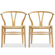 AUTHENTIC Wishbone Chair SET OF 2 - Natural - DWR Design Within Reach Midcentury
