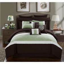 Chic Home 16-Piece Keira King Bed In a Bag Comforter Set Brown