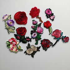 Patches Embroidery patch Cloth Accessories DIY Clothes Sticker Rose Flower Patch