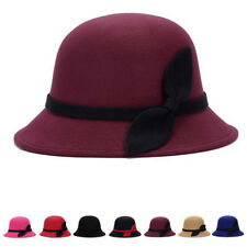 Fashion Bucket Vintage Cloche Felt Bowler Cute 1 Pcs Cap Women Warm Wool Hats