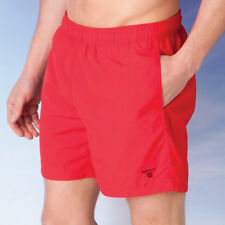 Mens Gant Solid Swim Shorts In Red-Elasticated Waistband-Internal