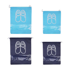 Portable Travel Shoe Bags with Drawstring Window Pouch Storage Waterproof Bags