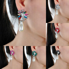 Fashion Jewelry Rhinestone Crystal Resin Pearl Statement Stud Dangle Earrings