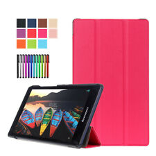Slim PU Leather Folio Stand Flip Case Cover Skin For Lenovo Tab 2 3 7 8 Tablet